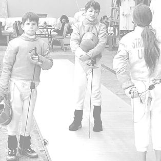 Kids getting ready to fence