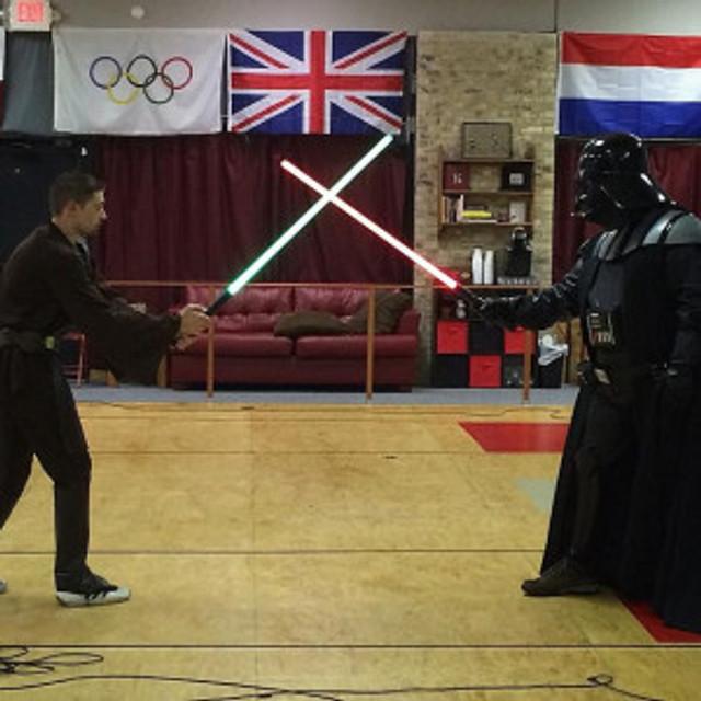 Darth Vader fencing at CEFC