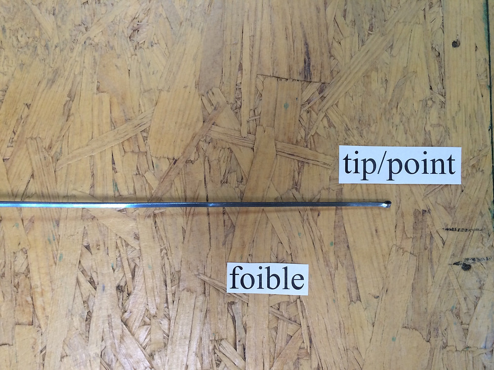 Tip/point and foible