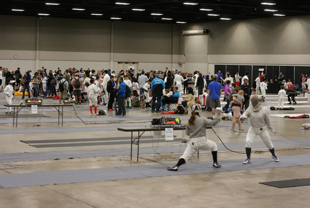 Crowded tournament venue