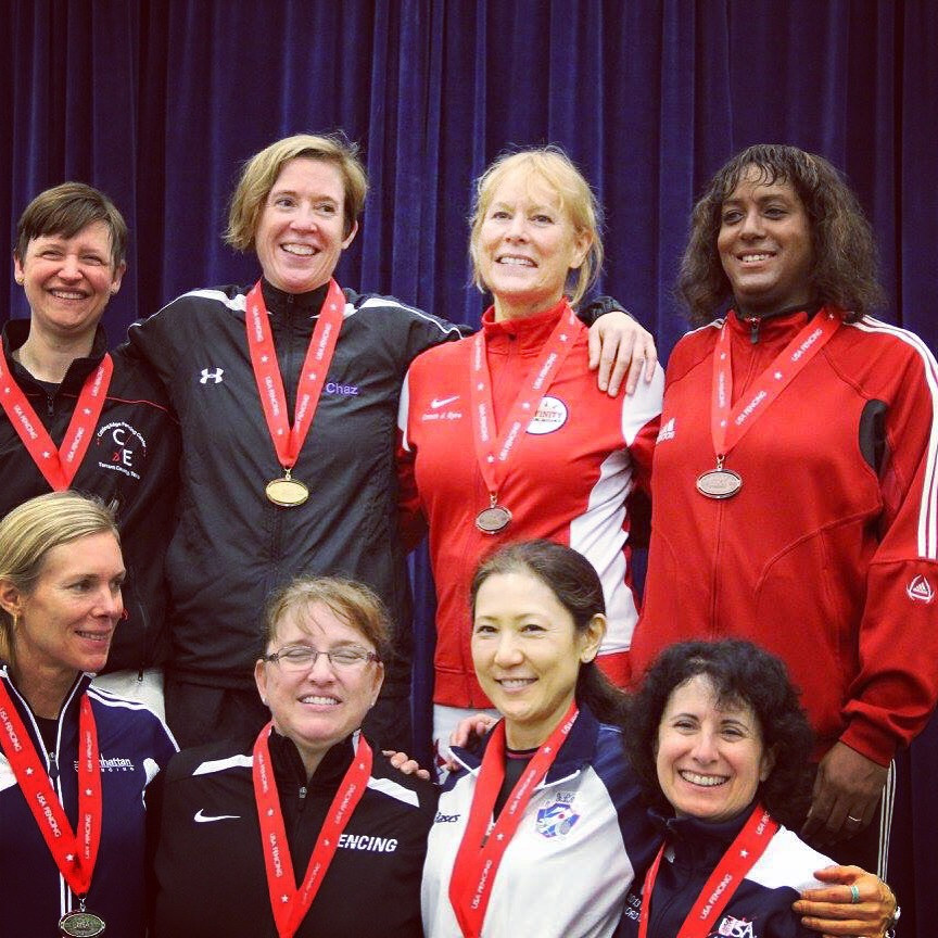 Kate with other female medal-winners