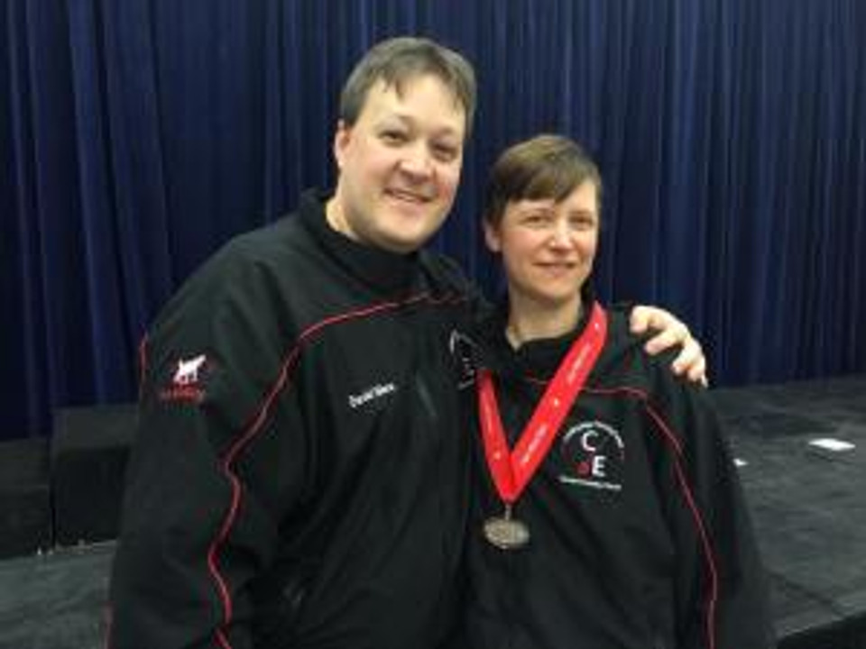 David and Kate with medal
