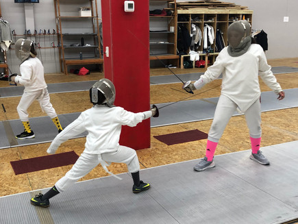 How to: practice with a Fencing Newbie