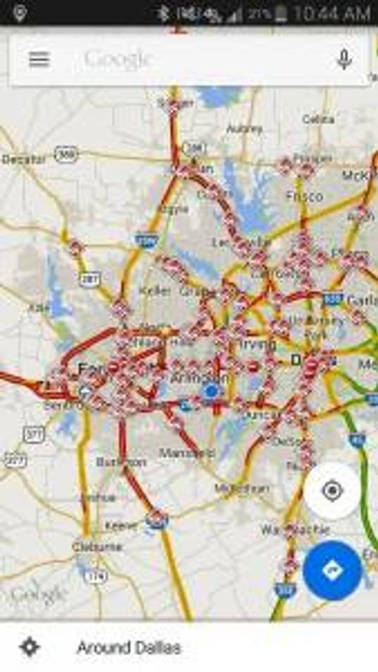 Traffic on Friday morning