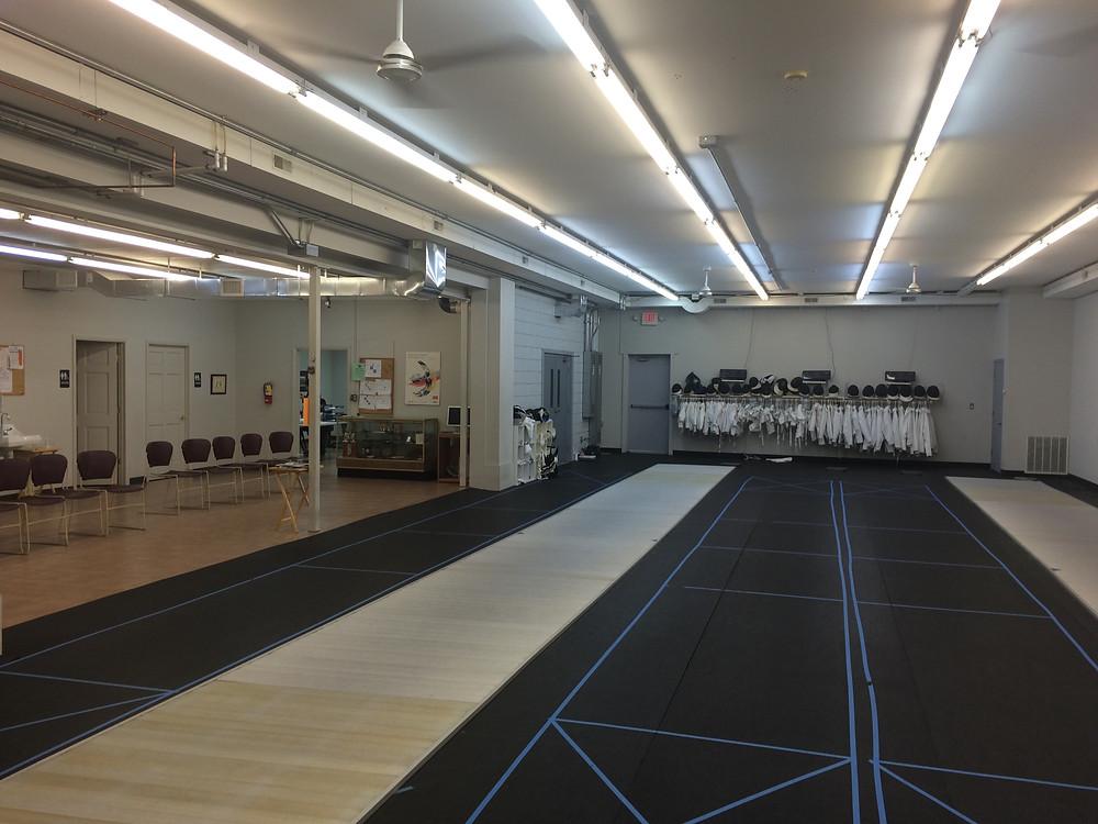 Main fencing area