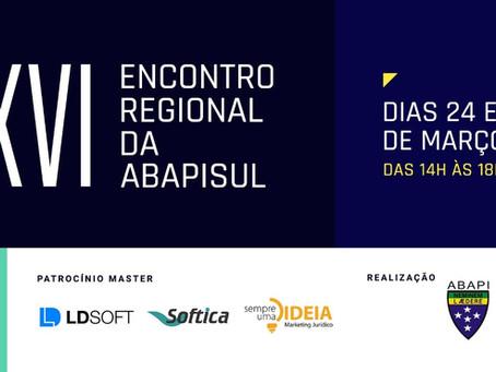 Participação no XVI Encontro Regional da ABAPISUL