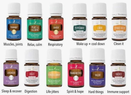yoUNG LIVING OIL LIST