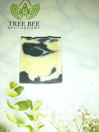 Peppermint and Charcoal Handmade Soap