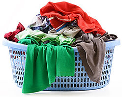 infected, Dirty laundry pile in basket