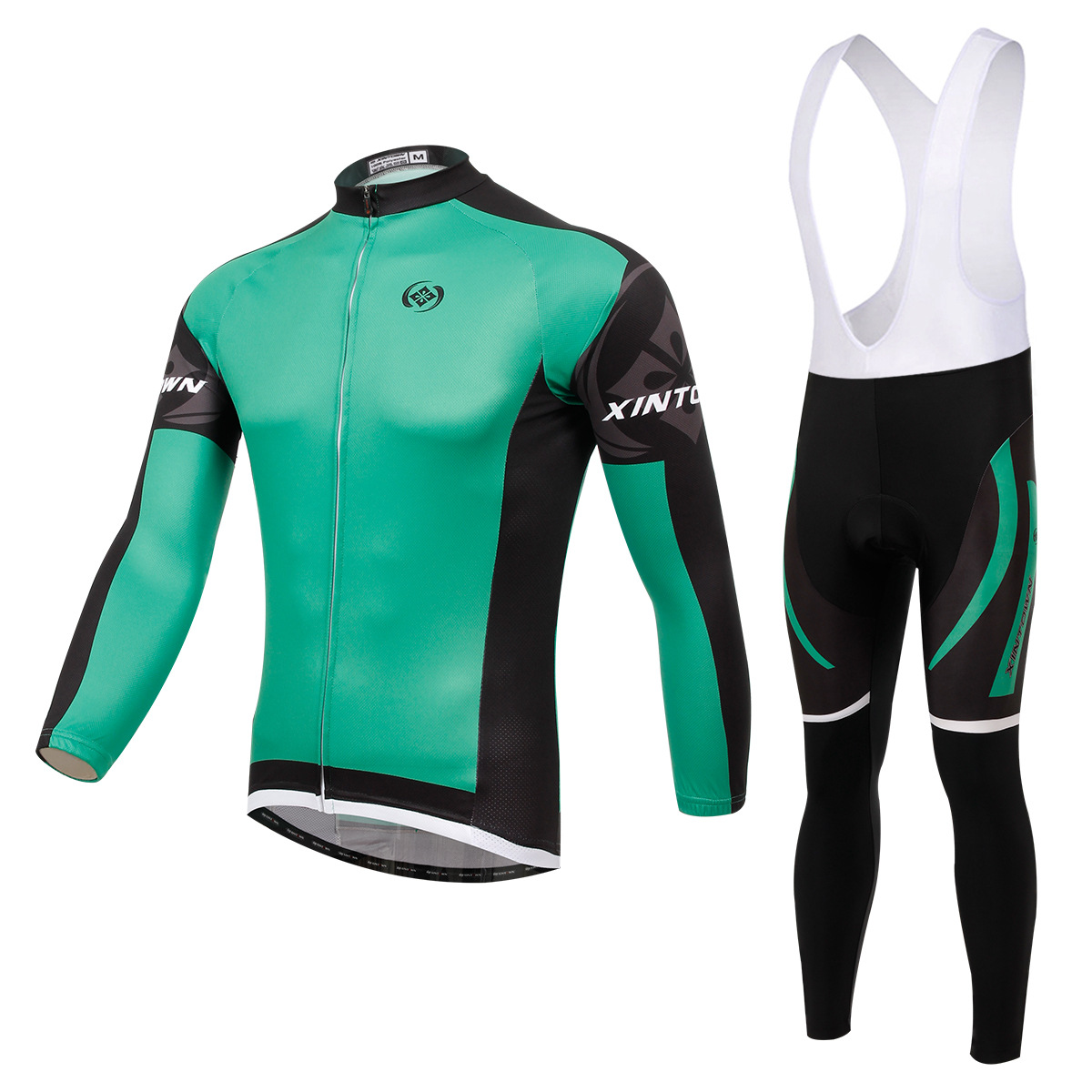 ls cycling jersey+bib pants (1)
