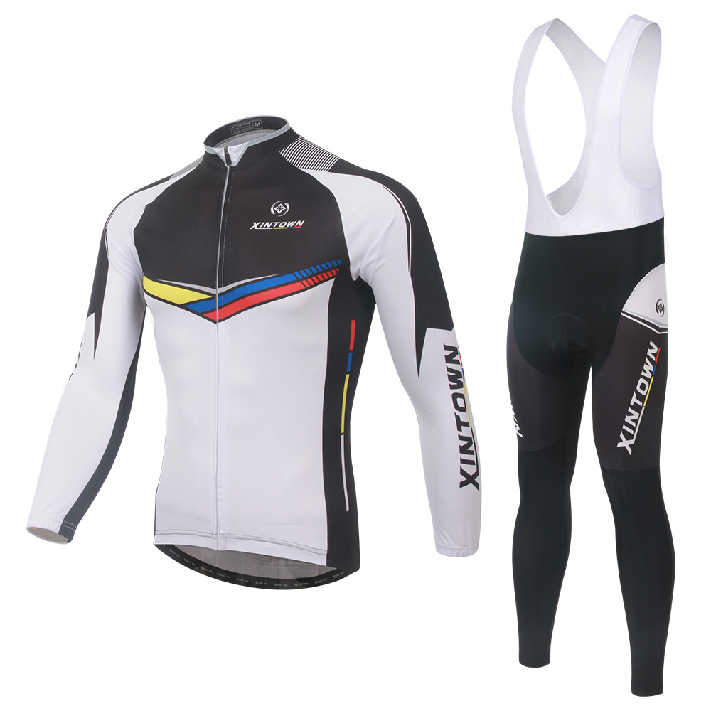 ls cycling jersey+bib pants (3)