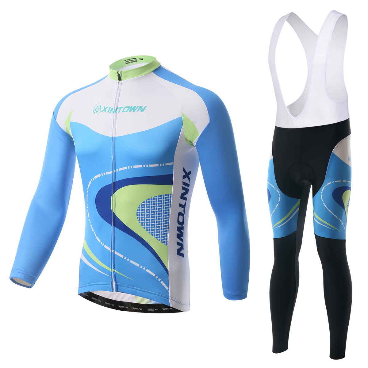 ls cycling jersey+bib pants (5)