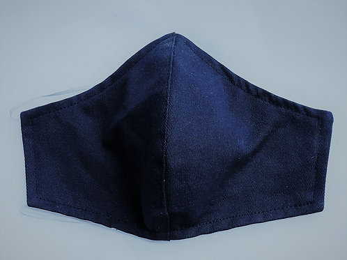 Fitted Navy Blue Solid