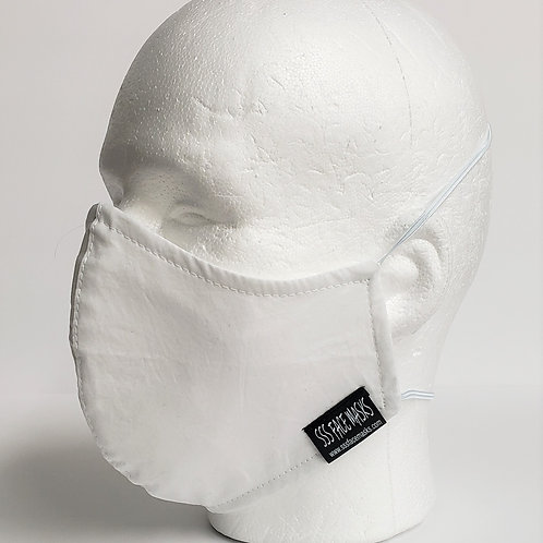 Solid White- Poly/Cotton