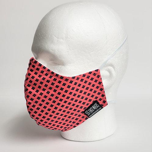 Hot Pink Navy Dots