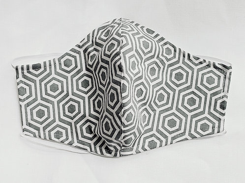 Fitted Geometric Hexagons Gray