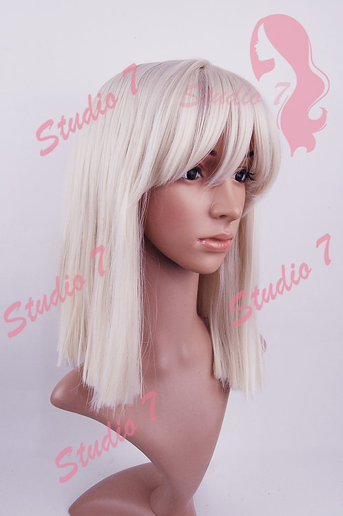 W172 Platinum Blonde One Length Straight Wig