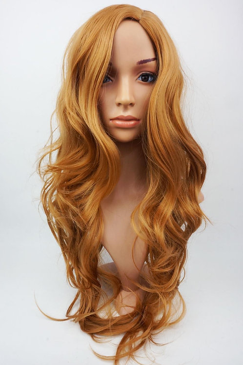 W6 Ginger Extra Long Wavy Skin Top Wig