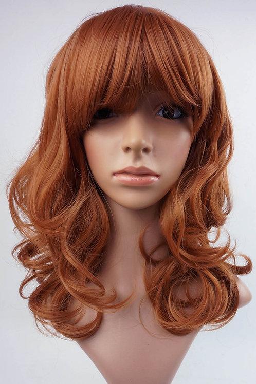 W98 Light Auburn Ginger Mix Wig