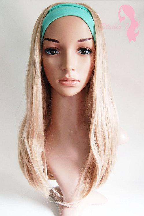 W47 Honey Blonde Mix Straight 3/4 Wig Clip In Hair Piece