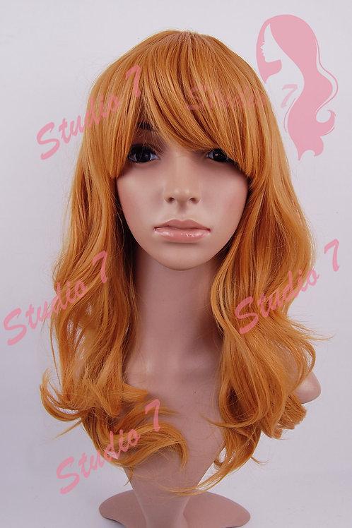 W167 Orange Marmalade Shuolder Length Wig