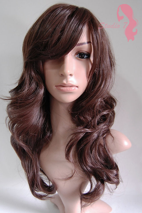 W31 Chocolate Brown Wavy Synthetic Wig