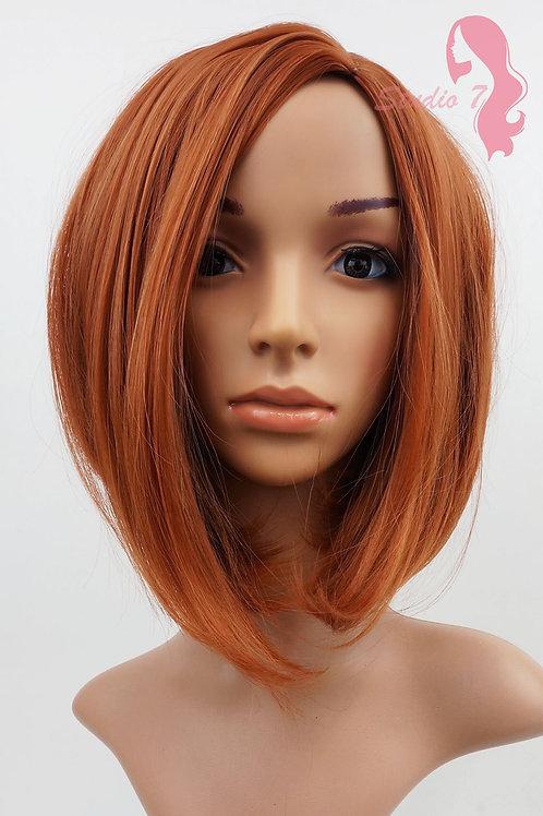 W91 Light Auburn Ginger Mix Mid Length Bob