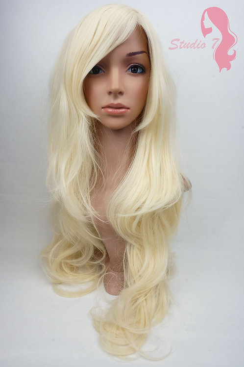 W8 Bleach Blonde Extra Long Wavy Skin Top