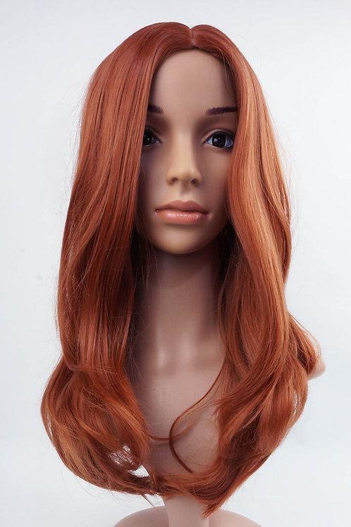 W66 Light Auburn Ginger Mix Straight Long Wig
