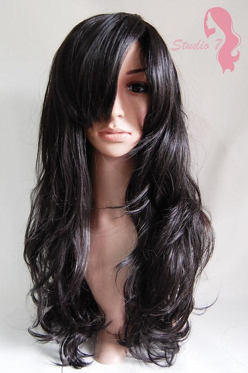 W1 Darkest Brown Long Wavy Skin Top