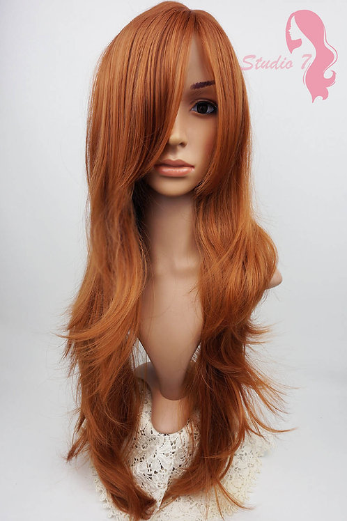 W97 Dark Ginger Extra Long Wavy Wig