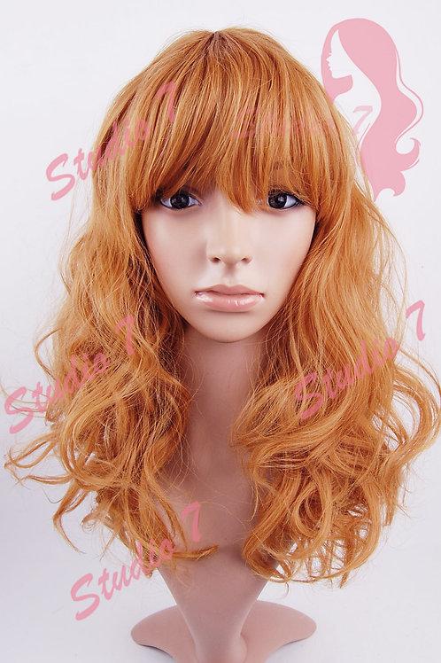 W177 Ginger Medium Length Wavy Wig