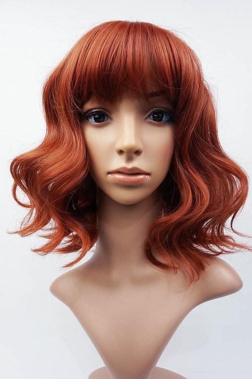 W101 Auburn Shoulder Length Wavy Ladies Wig