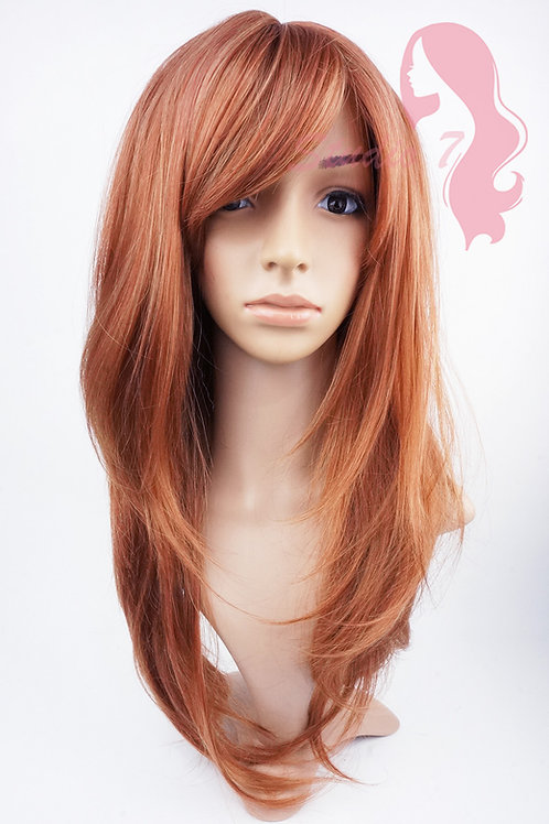 W150 Auburn Mix Long Layered Wig