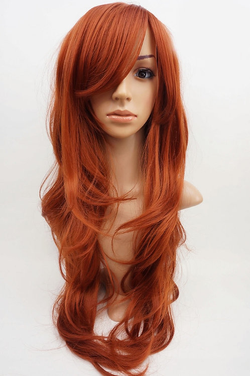 W9 Copper Red Extra Long Wavy Skin Top