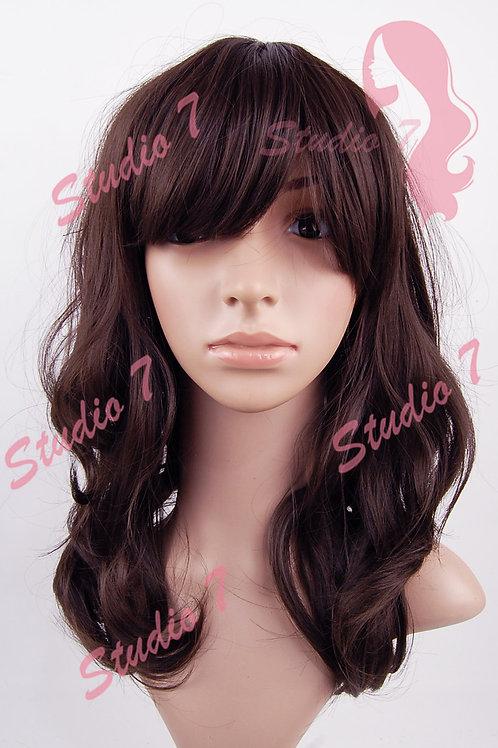 W164 Brown Wavy Shuolder Length Wig