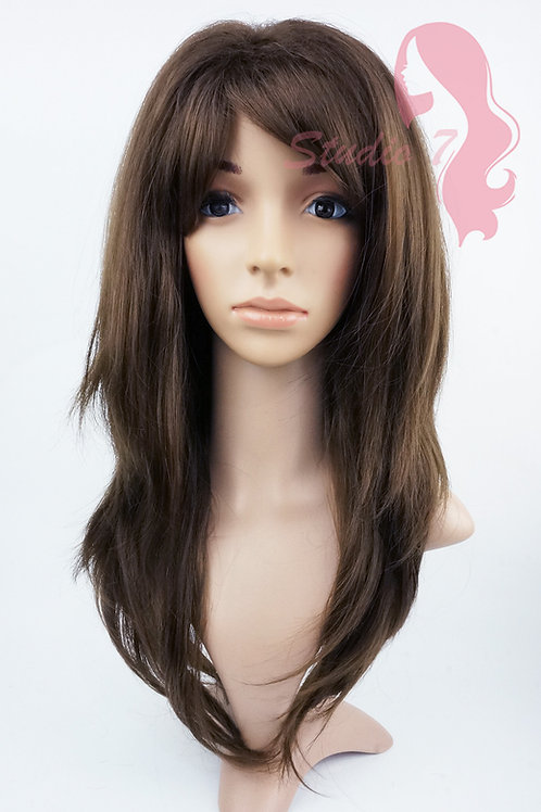 W144 Brown Long Wavy Layered