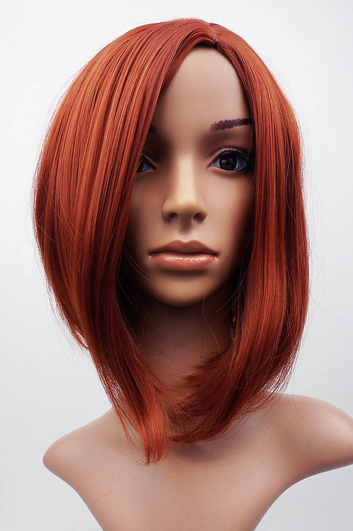 W105  Copper Red Mid Length Bob Ladies Wig