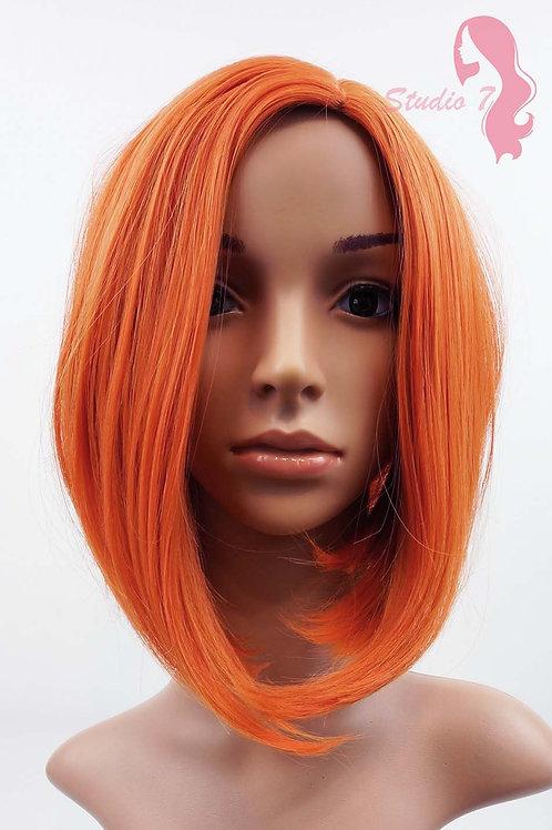 W95 Orange Mix Wig Medium Length Bob