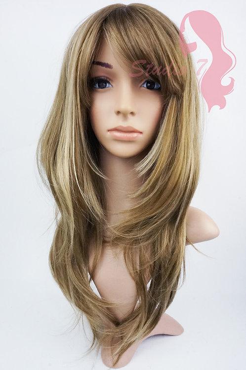 W148 Chocolate Blonde Highlight Long Layered