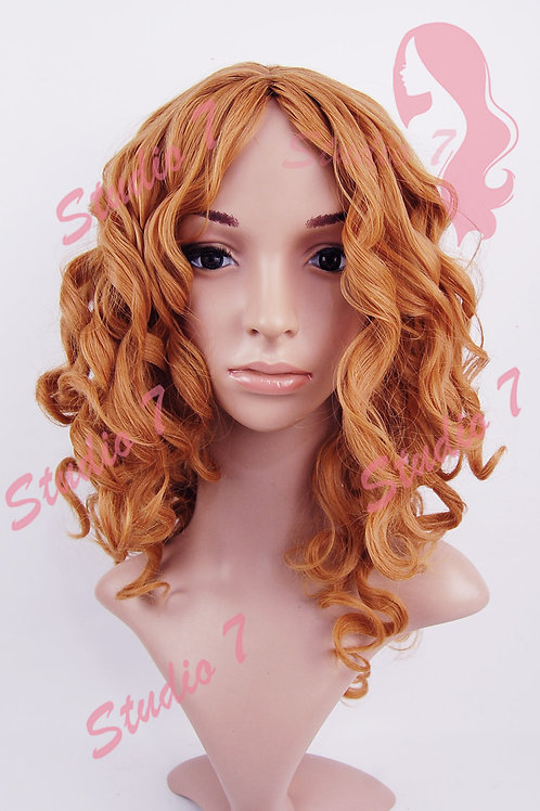 W170 Ginger Corkscrew Curly Medium Length