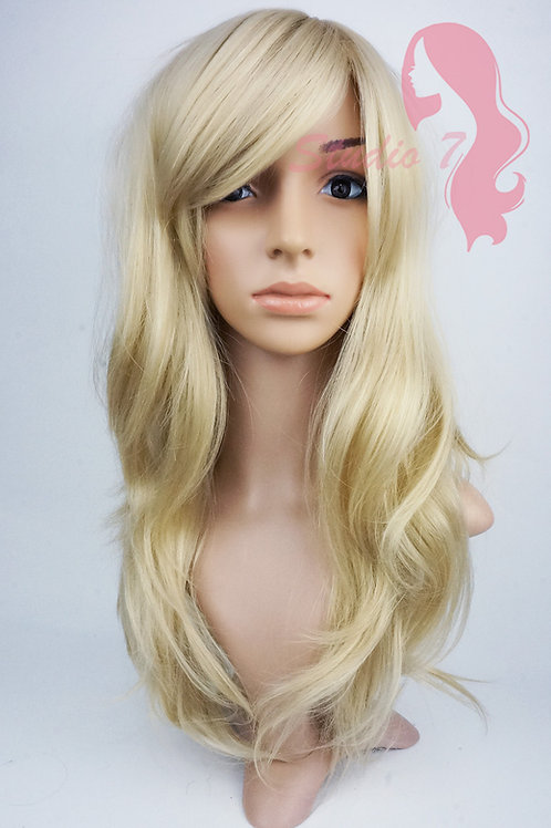 W124 Bleached Sandy Blonde Long Wavy Wig