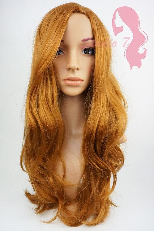 W119 Strawberry Blonde Mix Long Wavy Wig