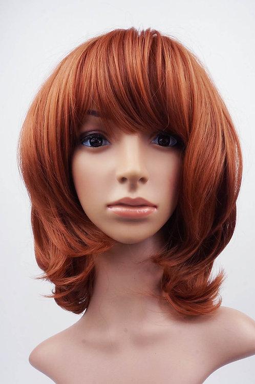 W106 Auburn Mix  Medium Length Full Wig