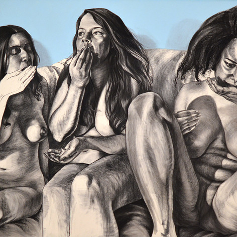 Three Eaters in the Blue Room