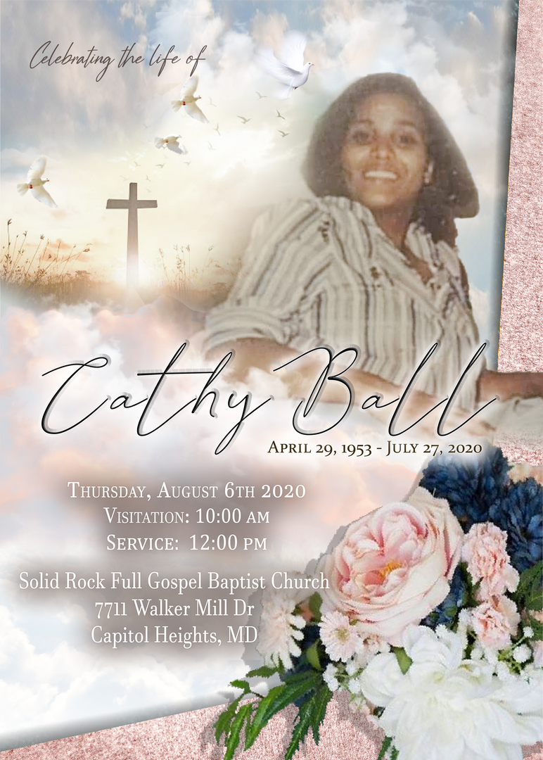 Pre-Made Custom Template Funeral Announcement