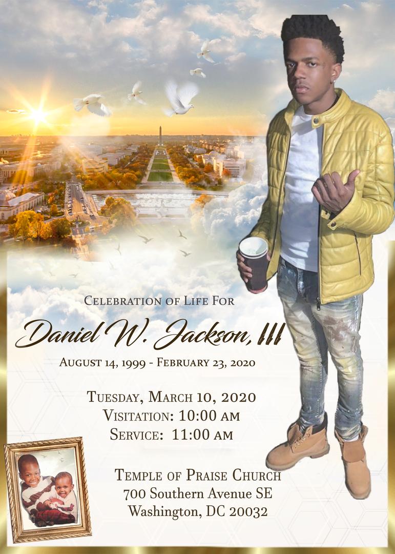 Custom Funeral Announcement