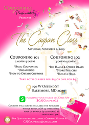 Coupon Class Flyer