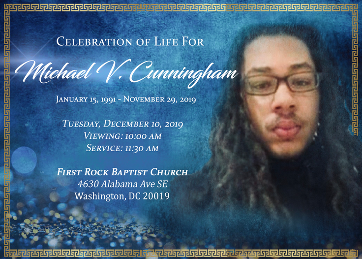 Custom Template with Text Funeral Announcement