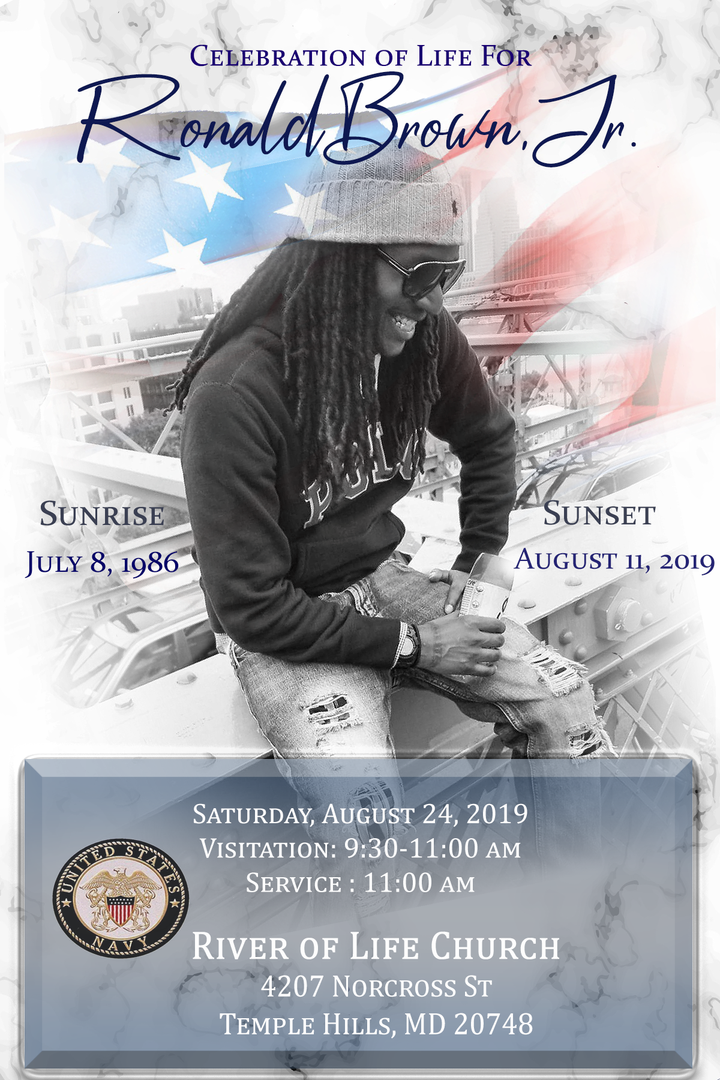 Custom Photo Template with Text Funeral Announcement